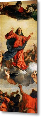 The Assumption Of The Virgin Metal Print by Titian