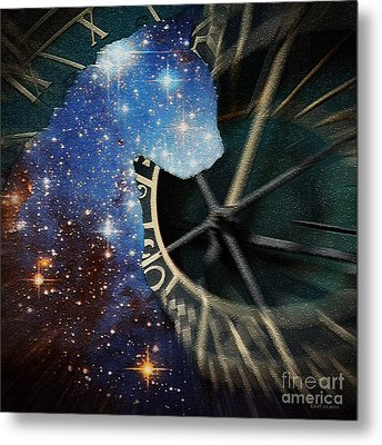The Astronomer's Cat Metal Print by Elizabeth McTaggart