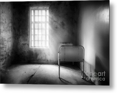 The Asylum Project - Empty Bed Metal Print by Erik Brede