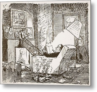 The Bachelor, Illustration From Pont An Metal Print by Pont