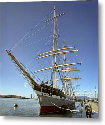 The Balclutha Historic 3 Masted Schooner - San Francisco Metal Print by Daniel Hagerman