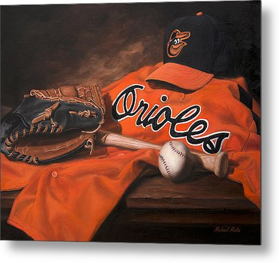 The Baltimore Orioles Metal Print by Michael Malta