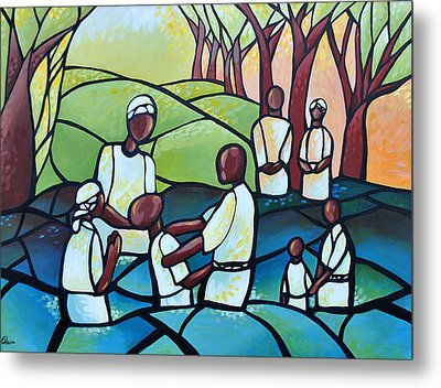 The Baptism Metal Print by AC Williams