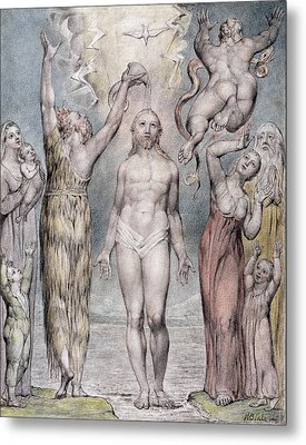 The Baptism Of Christ Metal Print by William Blake