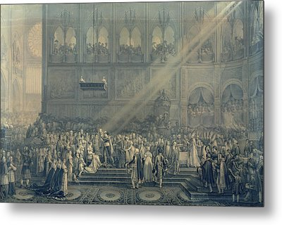 The Baptism Of The King Of Rome 1811-32 At Notre-dame, 10th June 1811, After 1811 Engraving Metal Print by French School