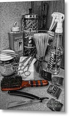 The Barber's Brush Metal Print by Lee Dos Santos