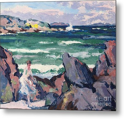 The Bather Metal Print by Francis Campbell Boileau Cadell