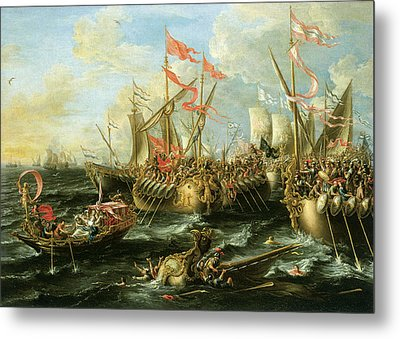 The Battle Of Actium 2 September 31 Bc Metal Print by Lorenzo Castro