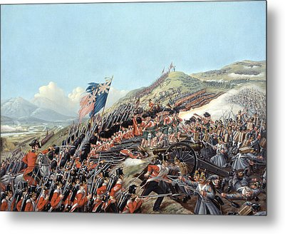 The Battle Of Alma On 20th September Metal Print by Edmund Walker