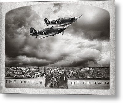 The Battle Of Britain Metal Print by Peter Chilelli