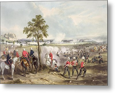 The Battle Of Goojerat On 21st February Metal Print by Henry Martens