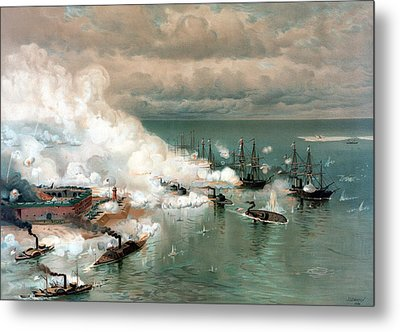 The Battle Of Mobile Bay Metal Print by War Is Hell Store