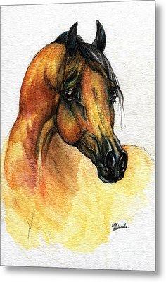 The Bay Arabian Horse 14 Metal Print by Angel  Tarantella