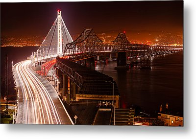 The Bay Bridges Metal Print by Alexis Birkill