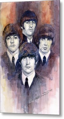 The Beatles 02 Metal Print by Yuriy  Shevchuk
