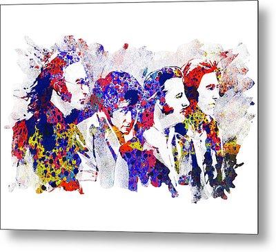 The Beatles 4 Metal Print by Bekim Art