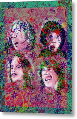 The Beatles 8 Metal Print by Bekim Art