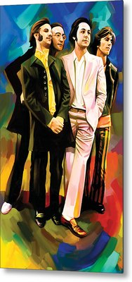 The Beatles Artwork 3 Metal Print by Sheraz A