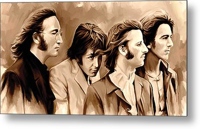 The Beatles Artwork 4 Metal Print by Sheraz A