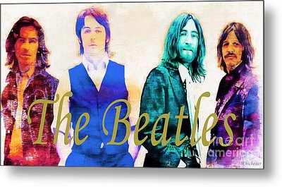 The Beatles Metal Print by Barbara Chichester