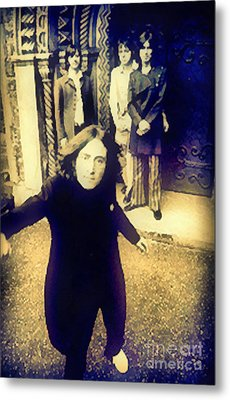 The Beatles - Camera Adjustment Metal Print by Paulette B Wright