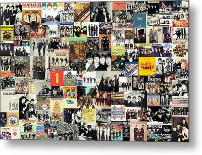 The Beatles Collage Metal Print by Taylan Soyturk