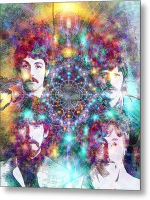 The Beatles Metal Print by D Walton