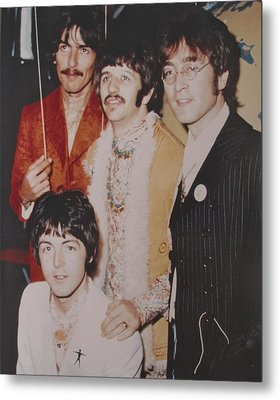 The Beatles In Color Metal Print by Donna Wilson