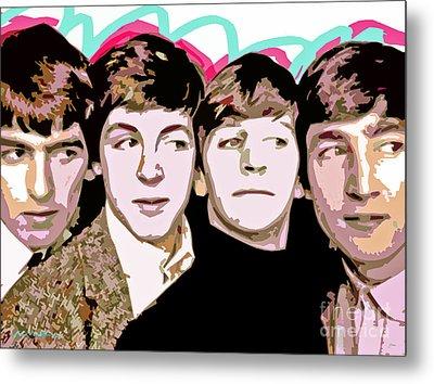 The Beatles Love Metal Print by David Lloyd Glover