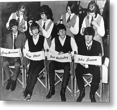 The Beatles Metal Print by Underwood Archives