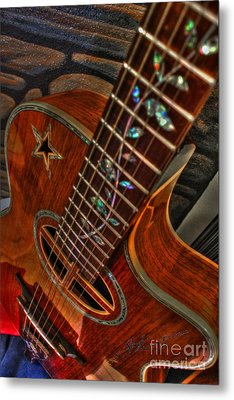 The Beauty Of A Six String Digital Guitar Art By Steven Langston Metal Print by Steven Lebron Langston