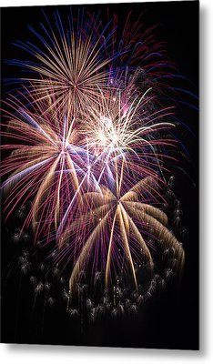 The Beauty Of Fireworks Metal Print by Garry Gay