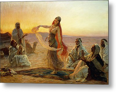 The Bedouin Dancer Metal Print by Otto Pilny