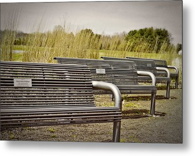 The Benches Metal Print by Tom Gari Gallery-Three-Photography