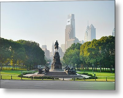The Benjamin Franklin Parkway - Philadelphia Pennsylvania Metal Print by Bill Cannon