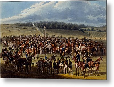 The Betting Post, Print Made By Charles Metal Print by James Pollard
