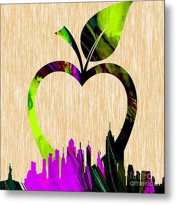 The Big Apple New York Skyline Metal Print by Marvin Blaine