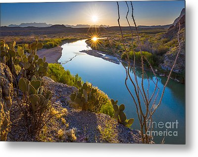 The Big Bend Metal Print by Inge Johnsson