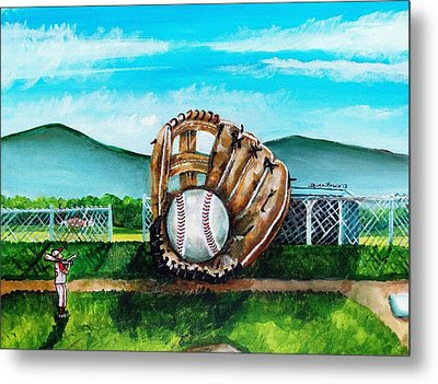 The Big Leagues Metal Print by Shana Rowe Jackson