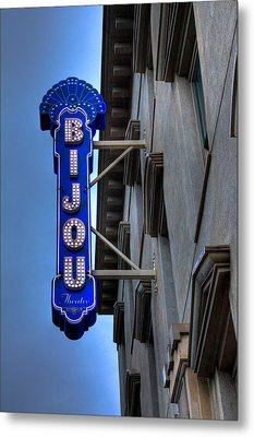 The Bijou Theatre - Knoxville Tennessee Metal Print by David Patterson