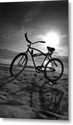 The Bike Metal Print by Peter Tellone