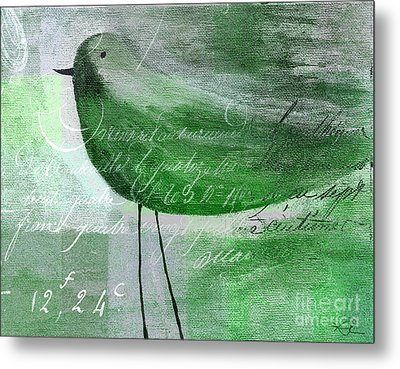 The Bird - Gr-j099225225-02 Metal Print by Variance Collections