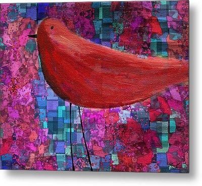 The Bird - S23a01bb Metal Print by Variance Collections