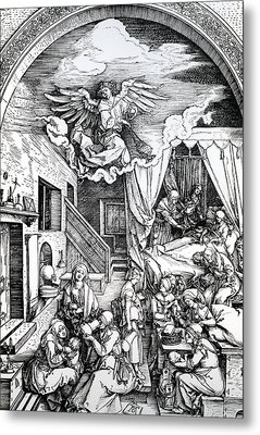 The Birth Of The Virgin, From The Cycle Of The Life Of The Virgin, 1511 Metal Print by Albrecht Durer or Duerer