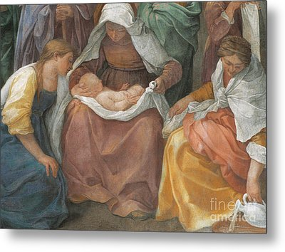 The Birth Of The Virgin Metal Print by Guido Reni