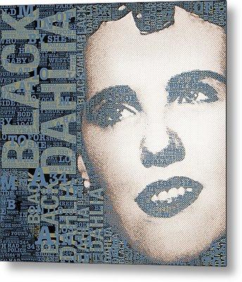 The Black Dahlia Elizabeth Short Metal Print by Tony Rubino