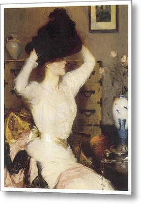The Black Hat Metal Print by Frank Benson