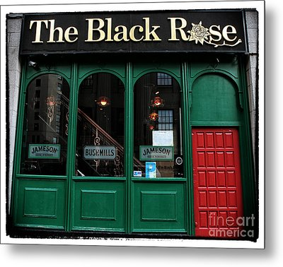 The Black Rose Of Boston Metal Print by John Rizzuto