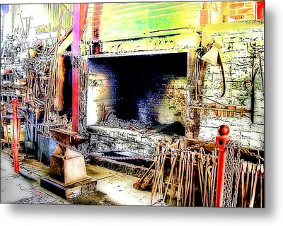 The Blacksmiths Forge. Metal Print by Trevor Kersley