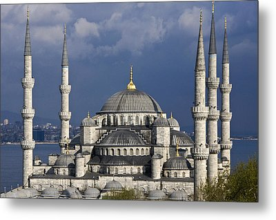 The Blue Mosque In Istanbul Metal Print by Michele Burgess